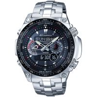 Mens Casio Edifice Waveceptor Alarm Chronograph Radio Controlled Solar Powered Watch