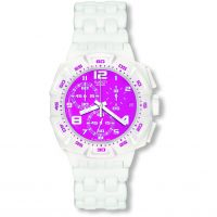 Mens Swatch Pink Purity Chronograph Watch
