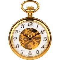 Royal London offen Zifferblatt Tasche Skelett mechanisch Uhr