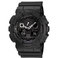 homme Casio G-Shock Alarm Chronograph Watch GA-100-1A1ER