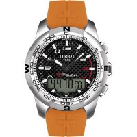 homme Tissot T-Touch II Alarm Chronograph Watch T0474204720701