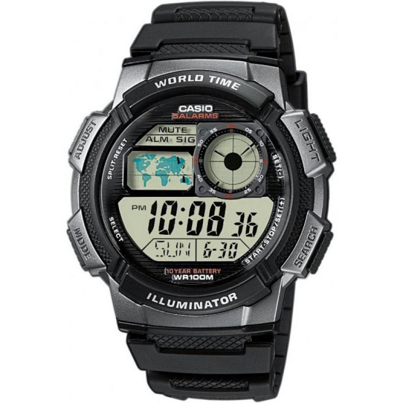 Mens Casio World Alarm Chronograph Watch AE-1000W-1BVEF