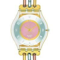 Ladies Swatch Skins Tri-Gold Watch