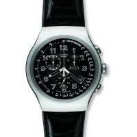 homme Swatch Your Turn Black Chronograph Watch YOS440