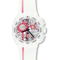 Herren Swatch Street Karte Flash Chronograf Uhr
