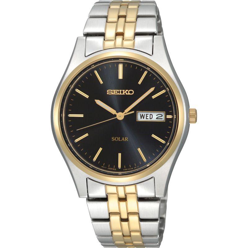 Herren Seiko Solar Powered Watch SNE034P1
