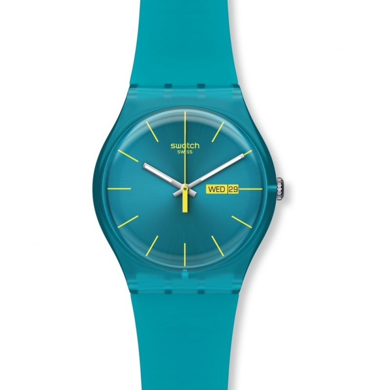 Unisex Swatch Turquoise Rebel Watch SUOL700