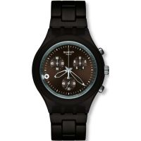Mens Swatch Smoky Brown Chronograph Watch