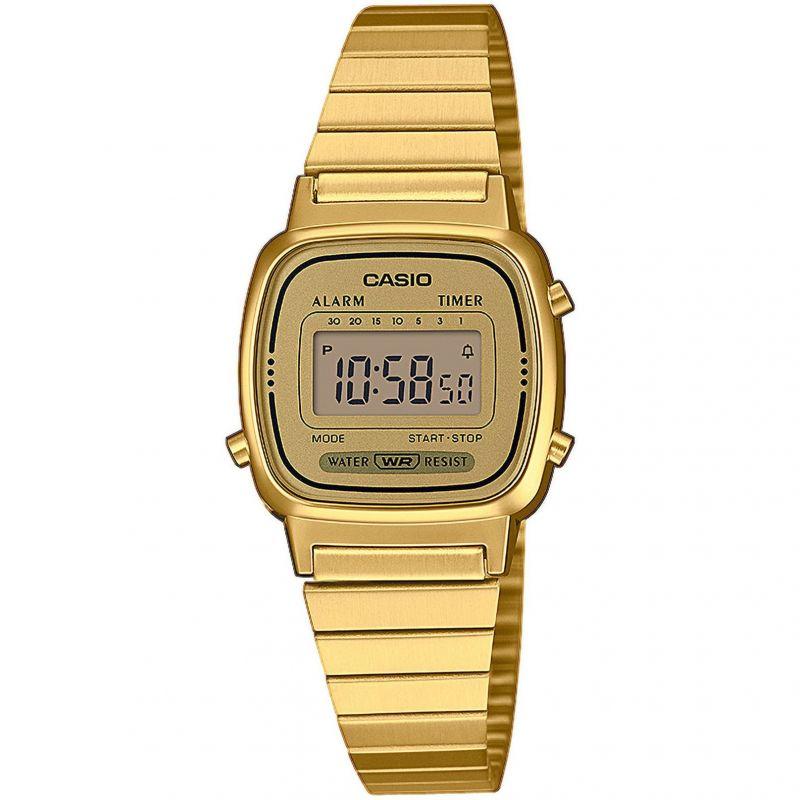 femme Casio Classic Collection Alarm Chronograph Watch LA670WEGA-9EF