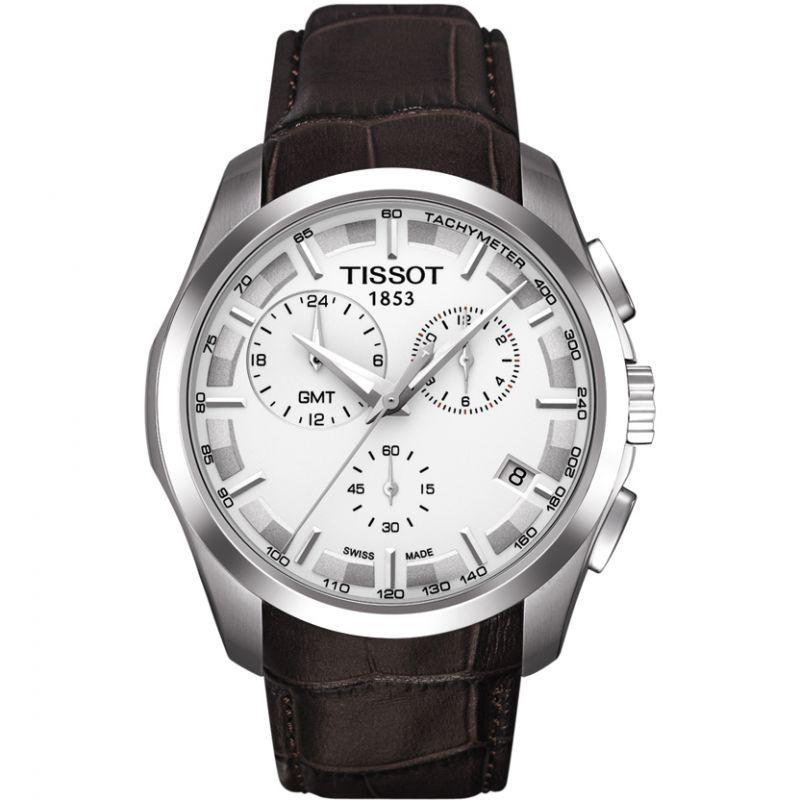 Herren Tissot Couturier GMT Chronograph Watch T0354391603100