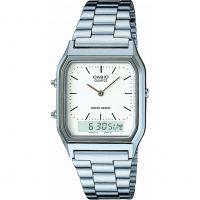 Herren Casio klassisch Wecker Chronograf Uhr
