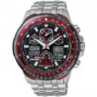 Herren Citizen Skyhawk A-T Red Arrows Titan Wecker Chronograf Radio kontrolliert Eco-Drive Uhr