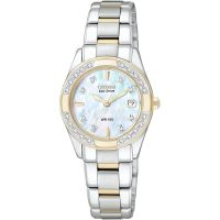 Damen Citizen Regent Diamond Eco-Drive Watch EW1824-57D