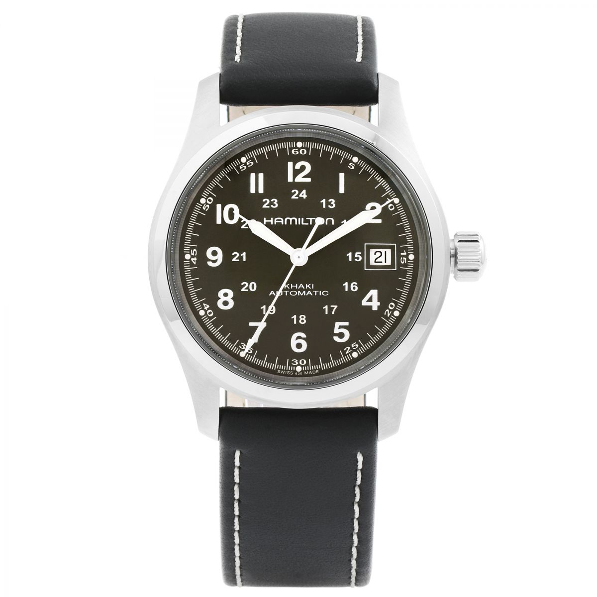 Gents hamilton khaki field 38mm watch h70455863 for Watches 38mm
