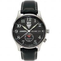 Herren Junkers Eisen Annie JU52 dual Zeit Uhr