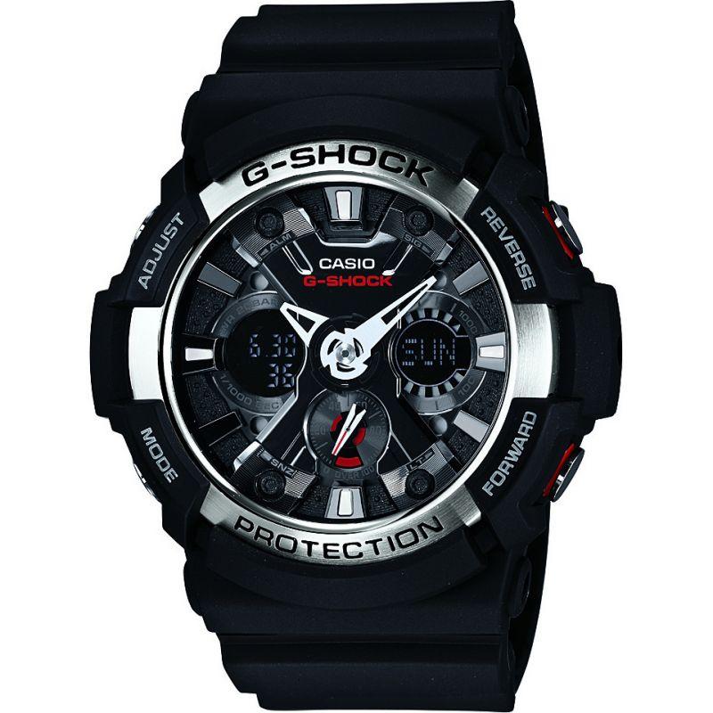 homme Casio G-Shock Alarm Chronograph Watch GA-200-1AER