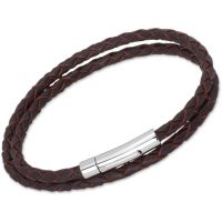 Biżuteria uniwersalne Unique & Co Dark Brown Leather Bracelet B62DB/21CM