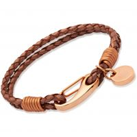 Biżuteria damska Unique & Co Copper Leather Bracelet B64CO/19CM