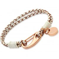 Biżuteria damska Unique & Co Pearl Leather Bracelet B64PE/19CM