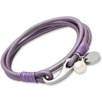 Biżuteria damska Unique & Co Lilac Leather Bracelet B67LY/19CM