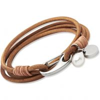 Biżuteria damska Unique & Co Natural Leather Bracelet B67NA/19CM