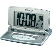 Seiko Clocks LCD Desk Alarm Clock QHL021N