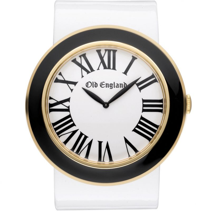Unisex Old England Black And White Watch OE110LR