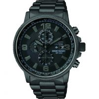Mens Citizen Nighthawk Chronograph Eco-Drive Watch