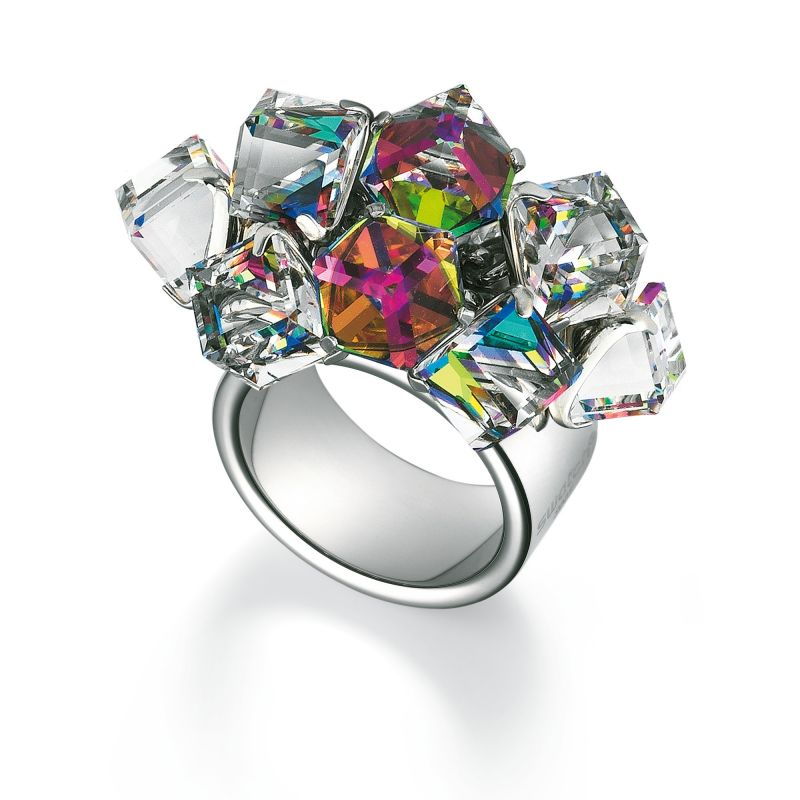 Ladies Swatch Bijoux Stainless Steel Love Explosion Ring Size P JRD022-8