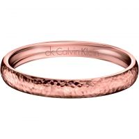 Ladies Calvin Klein PVD rose plating Small Dawn Bangle KJ68CB02020S