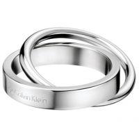 Damen Calvin Klein Edelstahl Coil Ring Größe P