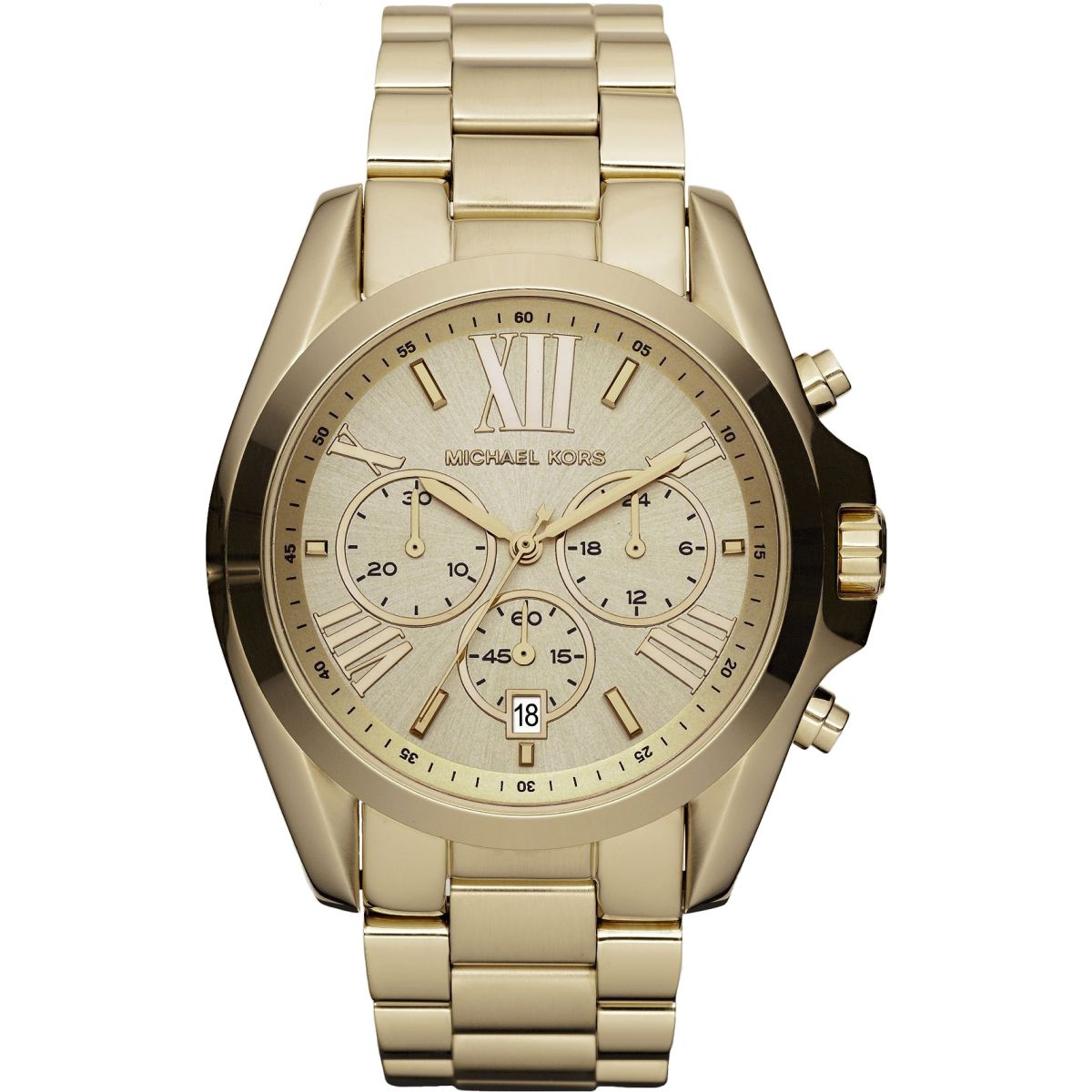 Ladies Michael Kors Bradshaw Chronograph Watch MK WatchShopcom - Graphic design invoice template word michael kors outlet online store