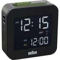 Wanduhr Braun Clocks Travel Alarm Clock Radio Controlled BNC008BK-RC