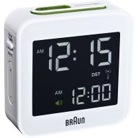 Wanduhr Braun Clocks Travel Alarm Clock Radio Controlled BNC008WH-RC