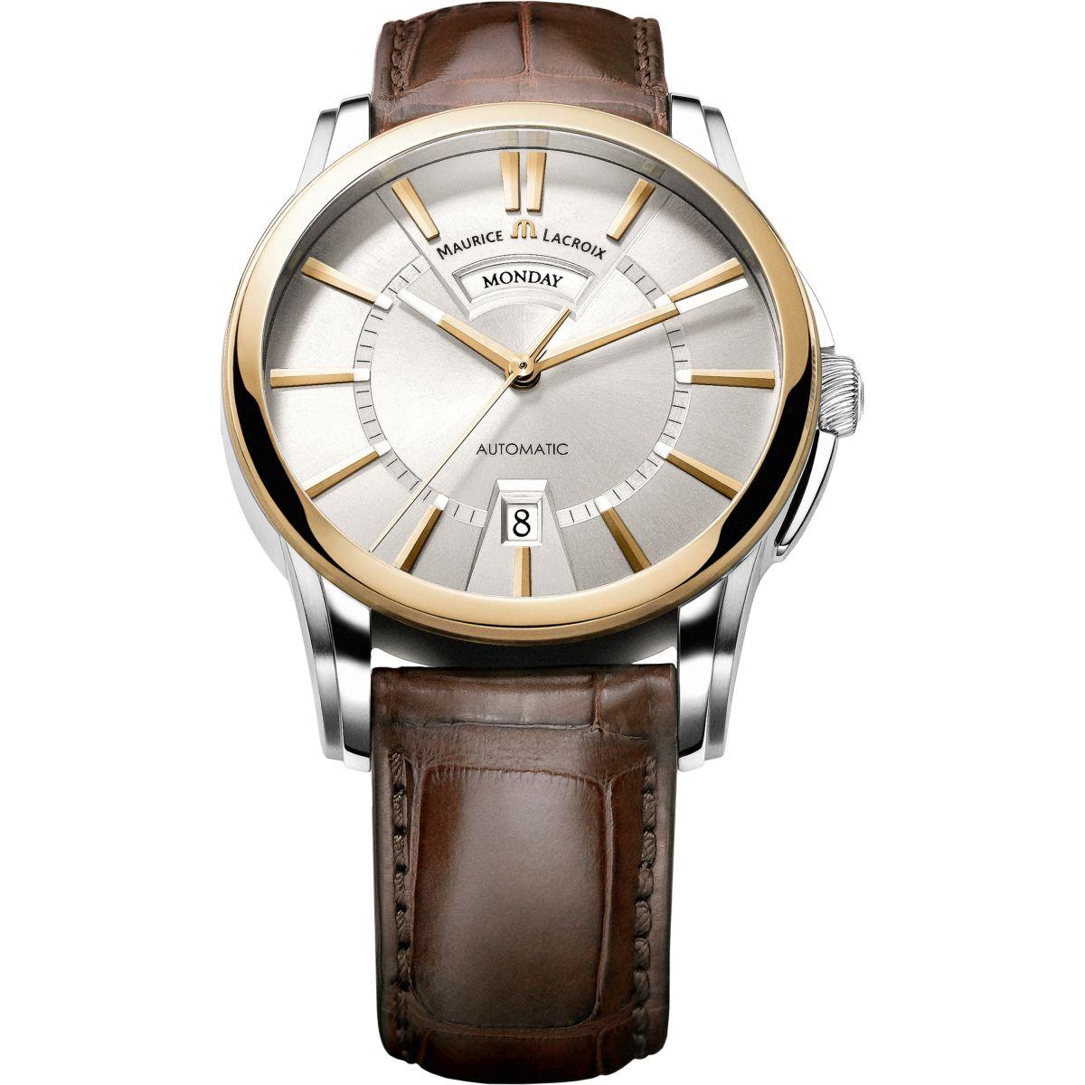Herren Maurice Lacroix Pontos Tag/Datum 18ct Gold ...