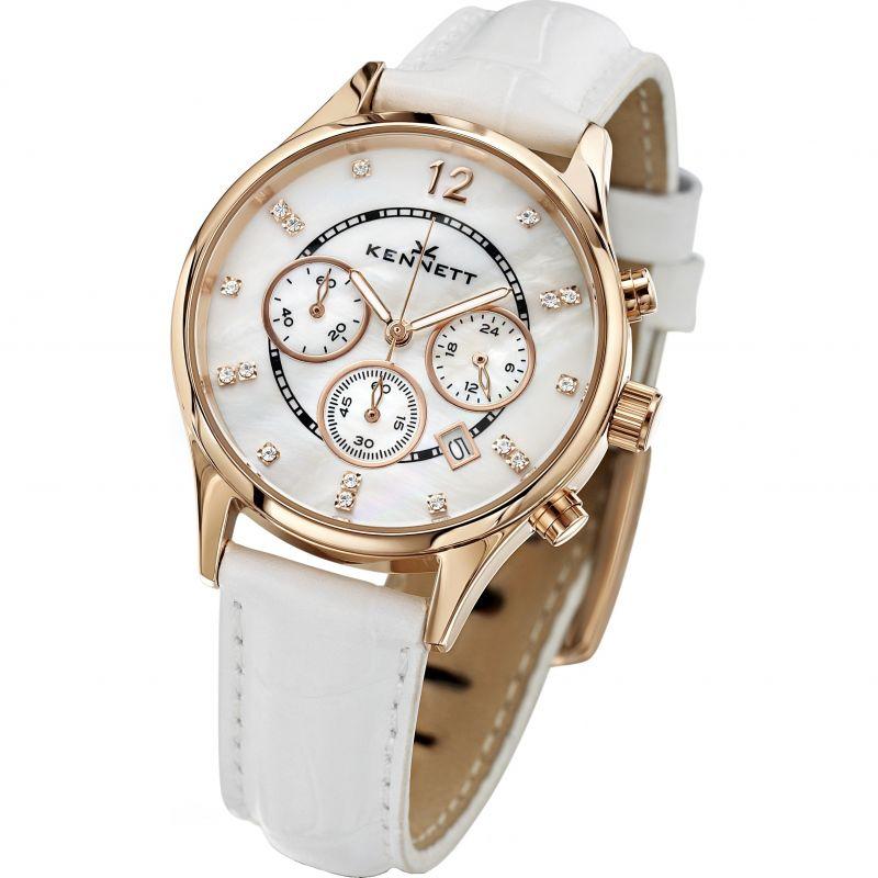 Damen Kennett Lady Savro Chronograph Watch LWSAVWHGOLWH