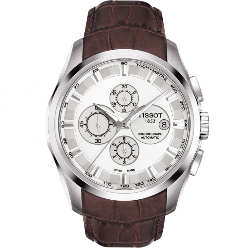 Mens Tissot Couturier Automatic Chronograph Watch T0356271603100