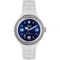 Damen Ice-Watch Ice-Blue Stones - white/blue unisex Watch IB.ST.WBE.U.S.12