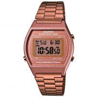 Damen Casio klassisch Wecker Chronograf Uhr
