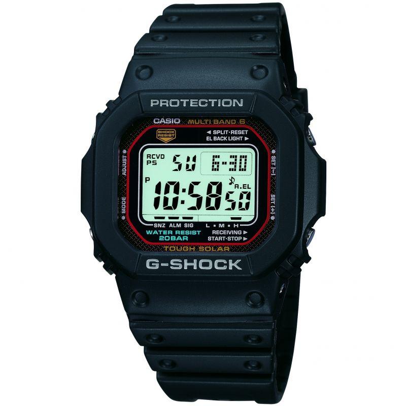 homme Casio G-Shock Alarm Chronograph Radio Controlled Tough Solar Watch GW-M5610-1ER