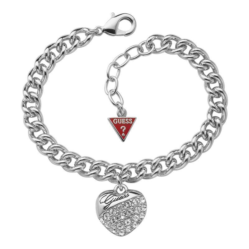 Ladies Guess Rhodium Plated Bracelet UBB70205