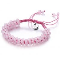 femme Shimla Jewellery Rose Quartz Popcorn Bracelet Watch SH-802