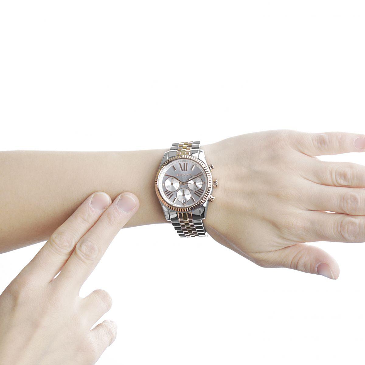 ladies michael kors lexington chronograph watch mk5735