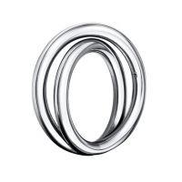Damen Calvin Klein Edelstahl Weiter Ring Größe O