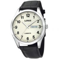 Herren Lorus Lumibrite Dial Leather Strap Watch RJ647AX9