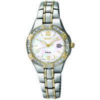 Damen Seiko Diamant solarbetrieben Uhr