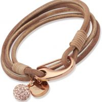 femme Unique & Co Natural Leather Bracelet 19cm Watch B153NA/19CM