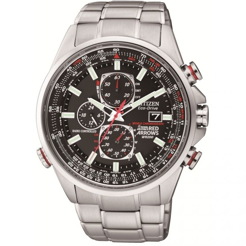 Citizen Red Arrows A-T Herenchronograaf Zilver AT8060-50E