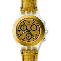 unisexe Swatch Mustardy Chronograph Watch SVCK4069