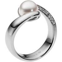 Damen Skagen Edelstahl Meere Ring Größe M.5